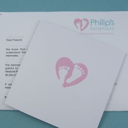 Our letter to parents, including a list of photographs to take and things to do and a sympathy card from us.