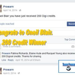 Oneil Blair won 200 phone credits