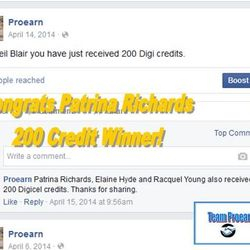 Patrina won 200 phone credits