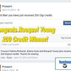 Racquel won 200 phone credits