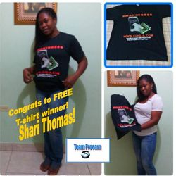 Shari Thomas won a Cliq t-shirt
