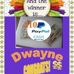 Paypal Cash Winner-15.5.17 - Dwayne