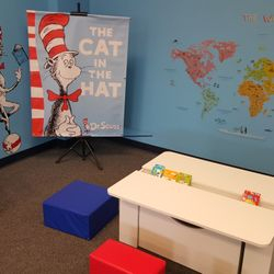 DR. SEUSS ROOM - AN AUTHENTIC LEARNING ENVIRONMENT DESIGNED TO HELP STUDENTS MAKE REAL WORLD CONNECTIONS TO THE CONTENT THAT THEY ARE LEARNING ABOUT.