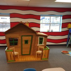 DR. SEUSS ROOM- THE CROOKED HOUSE- AKA THE INDEPENDENT READING AREA.  Scholars will be able to read and complete their work in a quiet comfortable setting.