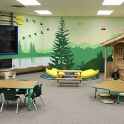 CAMPING ROOM - SCHOLARS WILL EXPERIENCE LEARNING HOW TO READ, WRITE AND COMMUNICATE IN THIS AUTHENTIC CAMP SITE. WHAT OTHER CLASSROOM DO YOU LEARN HOW TO DEVELOP AND RECITE CAMP FIRE STORIES?!?