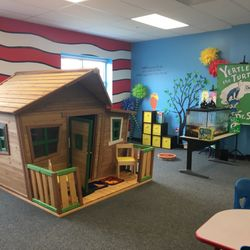 DR. SEUSS ROOM - THE CROOKED HOUSE- SCHOLARS WILL BE ABLE TO READ INDEPENDENTLY IN THIS COZY ENVIRONMENT.