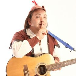 The Wandering Minstrel is Britain's most experienced Singing Telegram performer