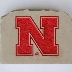 Nebraska Husker N Custom Limestone Rock