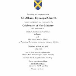 Celebration of New Ministry March 26th 6:30pm.