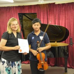Congratulations to Lucas for his great achievement in his Grade 4 violin exam!