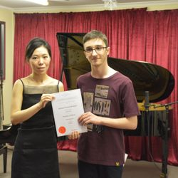 Michael had Honors in his piano exam. Well done!