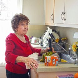 Vivan Russo does her own cleaning, shopping and cooking.
