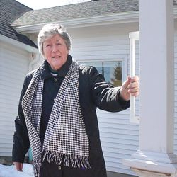 Carol Ann Brown installed grab bars around the front porch for safety purposes.