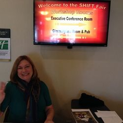 Deborah Ziegler, logistics & volunteer coordinator, SHIFT Fair, Halloween 2013