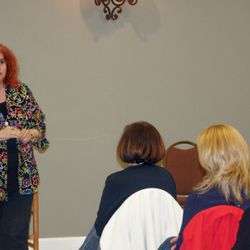 Sharon Klingler presented a talk about Powering Up Your Life. Photo by Paul Donnelly.