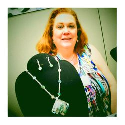 Barbara Jordan, Jeweler at SHIFT May 2015. Taken by Ed Garbarino