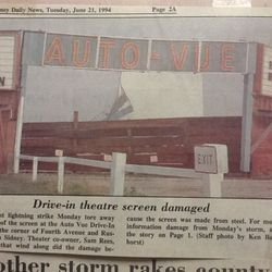 The screen was torn down by a mini tornado.