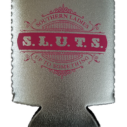 """Silver Metallic Can Coozie"" (for cans or bottles)"