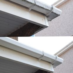 chemical free gutter cleaning technology.