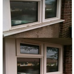 We clean the windows,frames and sills.