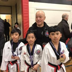 Spirit 1 Taekwondo Gold, Silver and Bronze in Sparring Youth division