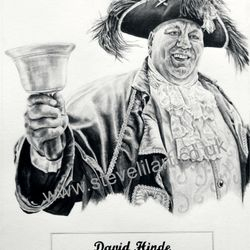 Town Crier commissioned portrait, pencil rendered artwork by Steve Lilly, stevelilart