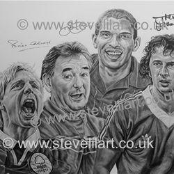 Nottingham Forest commissioned portrait, pencil rendered artwork by Steve Lilly, stevelilart