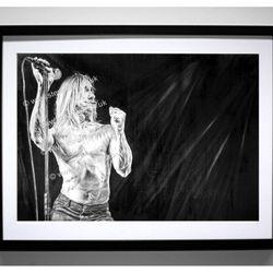 Iggy Pop artwork by Steve Lilly, stevelilart