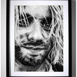 Kurt Cobain/Nirvana artwork by Steve Lilly, stevelilart