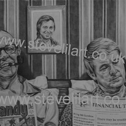 Morecambe and Wise portrait by Steve Lilly