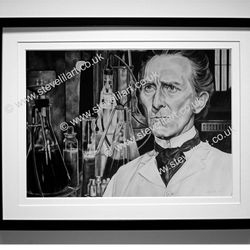 Peter Cushing/Dr Frankenstein artwork by Steve Lilly, stevelilart