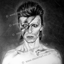 David Bowie Aladdin Sane artwork by Steve Lilly, Stevelilart