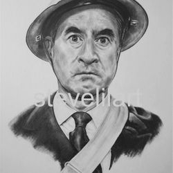 Warden Hodges portrait by Steve Lilly for the Dad's Army Museum