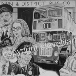 On The Buses portrait by Steve Lilly for On The Buses fanclub