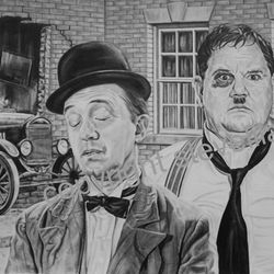 Laurel and Hardy portrait by Steve Lilly