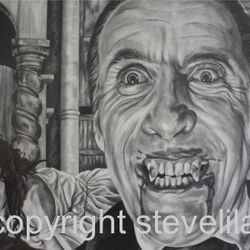 Christopher Lee portrait by Steve Lilly