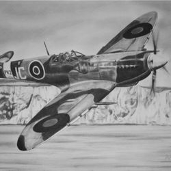 Spitfire artwork by Steve Lilly private commission