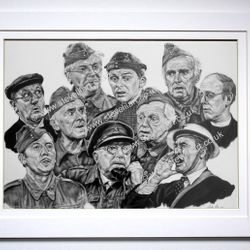 Dad's Army 50th Anniversary portrait by Steve Lilly, for The Dads Army Museum