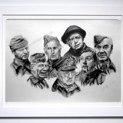 Dad's Army portrait by Steve Lilly for the Dad's Army Museum