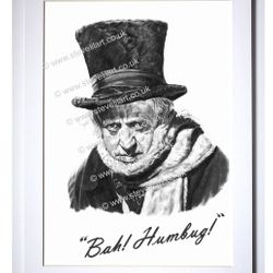 Scrooge/Alastair Sim portrait by Steve Lilly for Talking Pictures TV