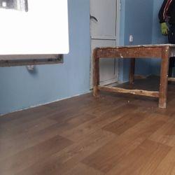 New Floors inNew floors in Quarnatine/Exam room