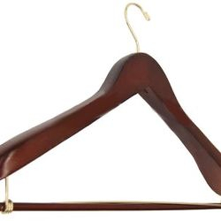 Heavyweight Suit Hanger with Lock Bar and Flared Ends