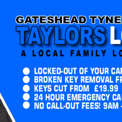 Auto Locksmiths Gateshead www.taylorslocksmiths.co.uk