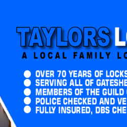 Emergency locksmith Gateshead www.taylorslocksmiths.co.uk