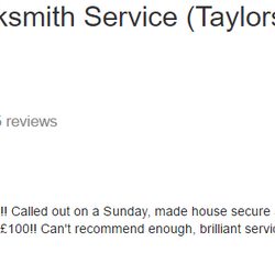 Taylors Happy customer, low cost locksmith 07525639943 Taylors Locksmiths, Gateshead Locksmith Service