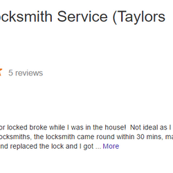 Taylors Happy customer, low cost locksmith 07525639943