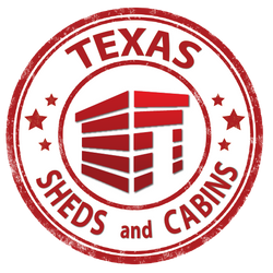 texas sheds and cabin logo