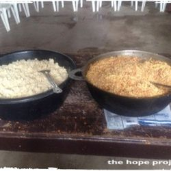Rice and soy are prepared