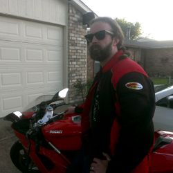 Clint and his Ducati 1098s. Ready to Motovlog!