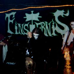A rare pic of Clint (far right)playing with Avant-Metal band Finsternis.
